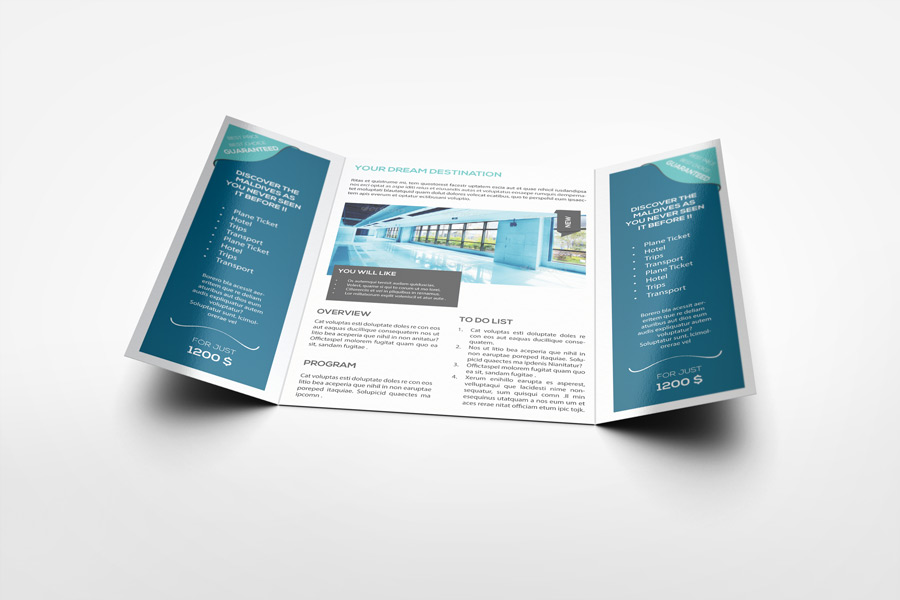 Lovely A4 Gatefold Brochure Mockup ... Images
