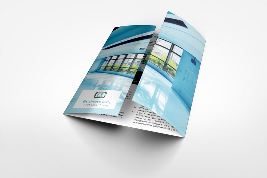 A4 Gatefold Brochure Mockup By Idesignstudio.Net