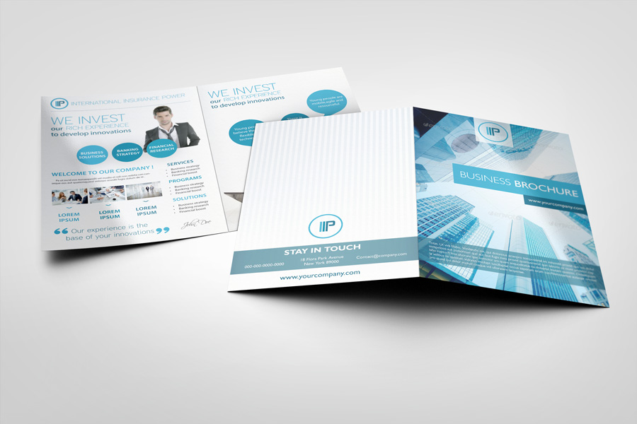 Bi fold brochure mock ups graphicriver for Bifold brochure template