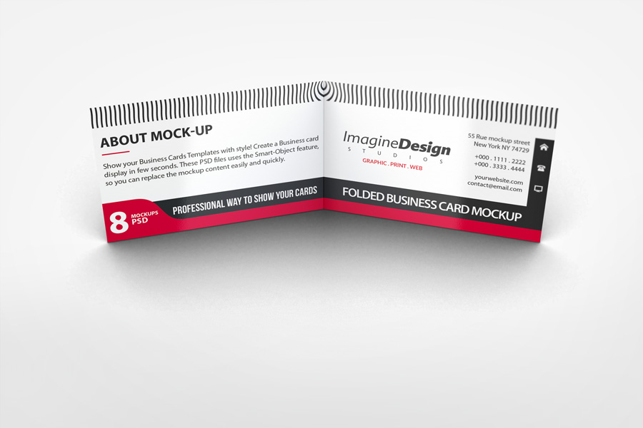 Folded Business Card Mockup V1 by idesignstudio.net