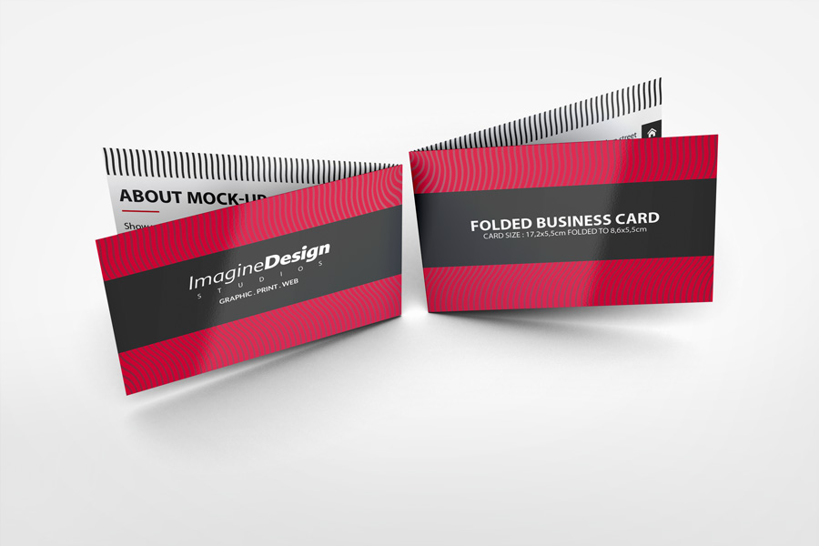 Folded business card mockup v1 by idesignstudio folded business card mockup v1 fbccfo Choice Image