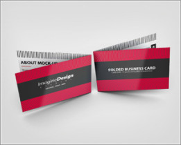 Folded Business Card Mockup V1