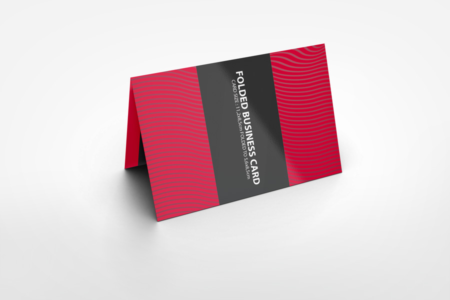 Folded Business Cards Mockup Choice Image - Card Design And Card ...
