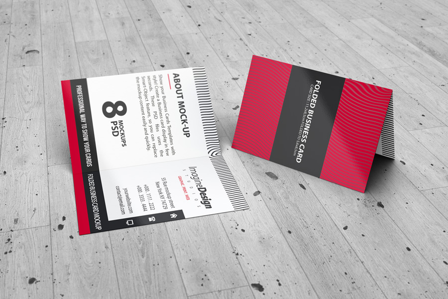 Folded business card mockup v2 by idesignstudio folded business card mockup v2 friedricerecipe