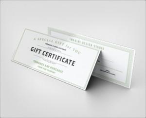 Gift Certificate Mockup