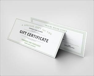 Gift Certificate Mockup download