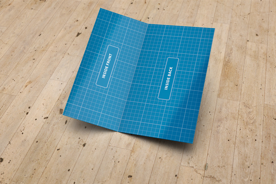 Folded Business Card Mockup V3