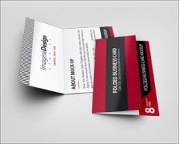 Folded Business Card Mockup V3