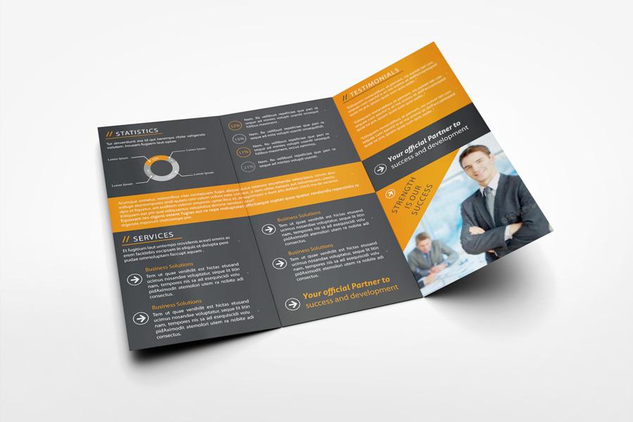 US Letter Tri-Fold Brochure Mockup