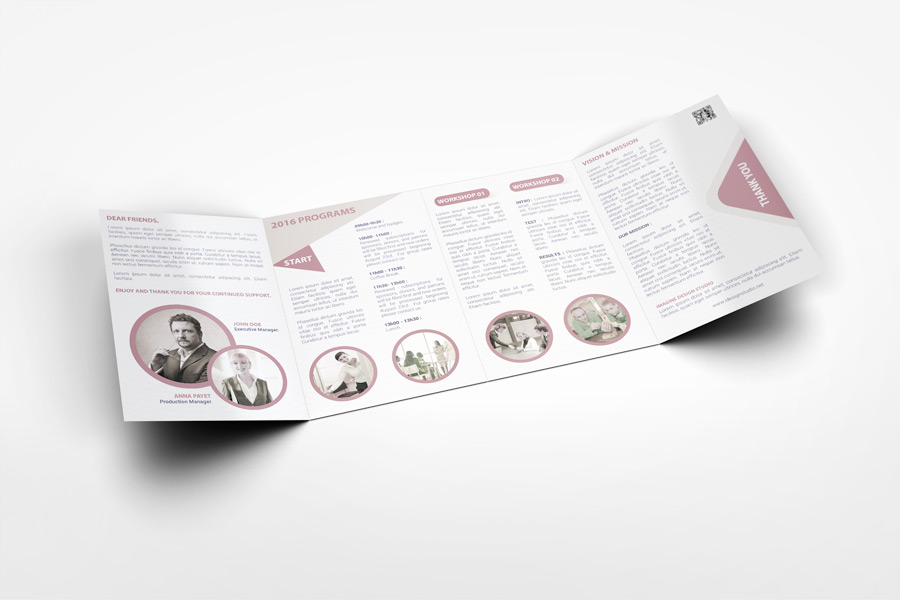 roll fold brochure template - roll fold brochure mockup v2