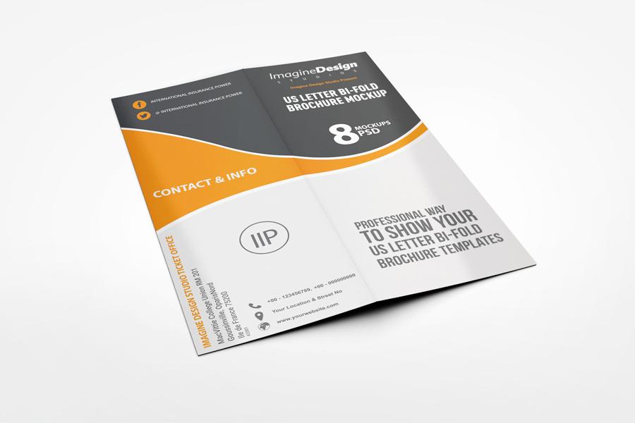 us letter half fold brochure mockup www