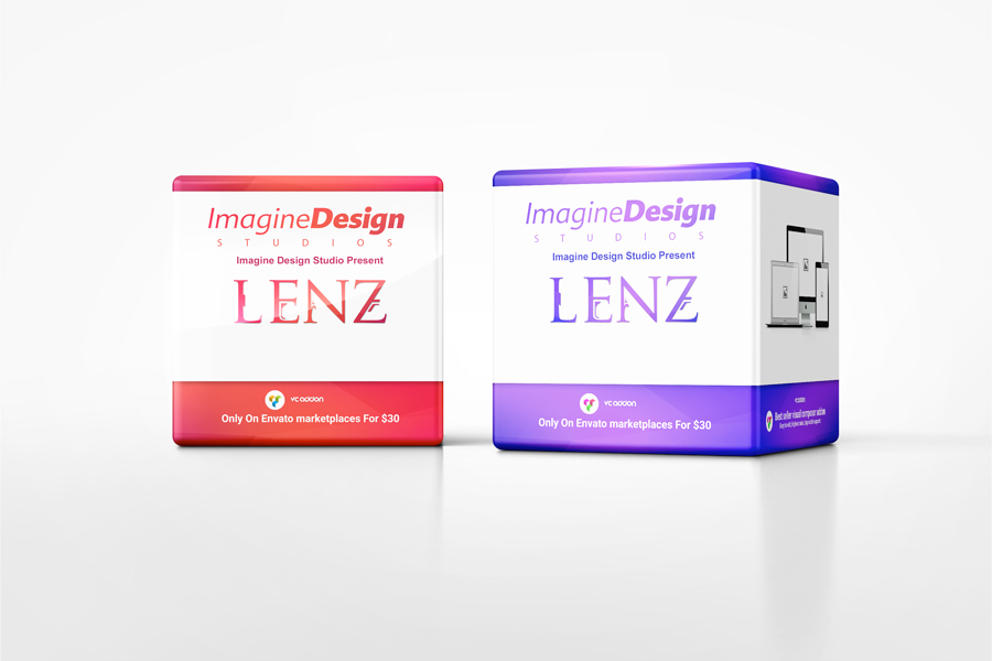 Promotional Cube Display Mockup
