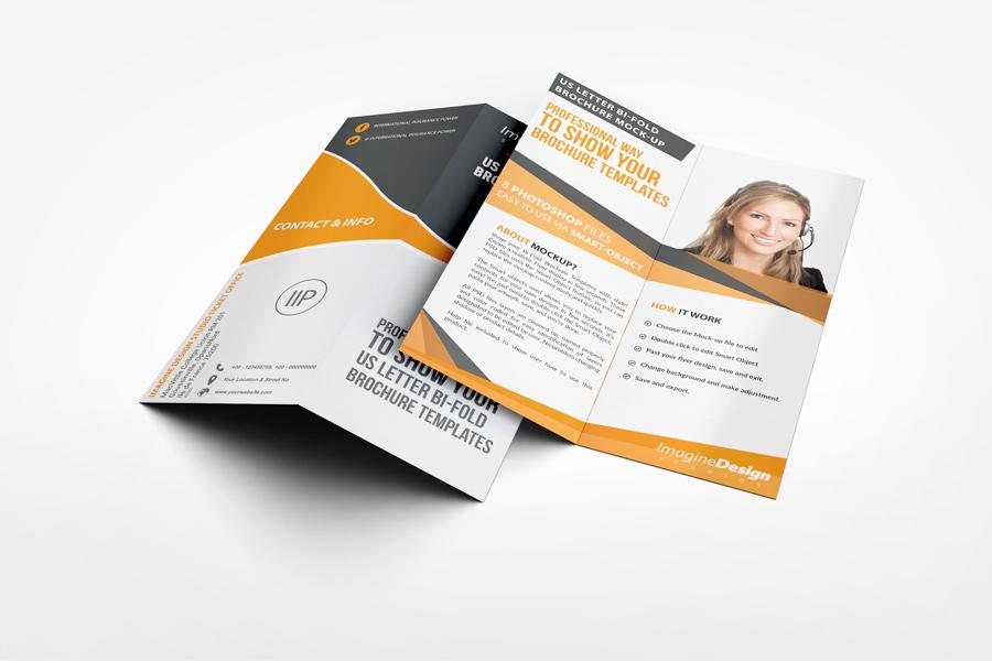 Us Letter HalfFold Brochure Mockup  WwwIdesignstudioNet