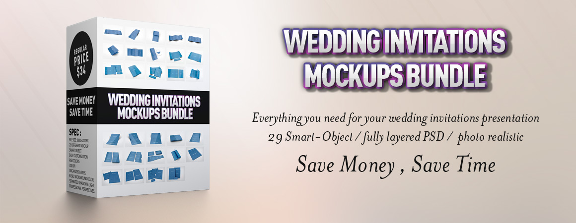 Wedding Invitations Mockups Bundle