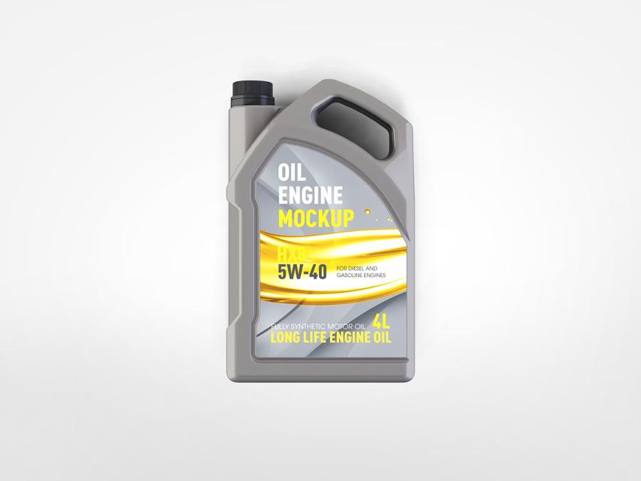 Motor Oil Gallon Mockup