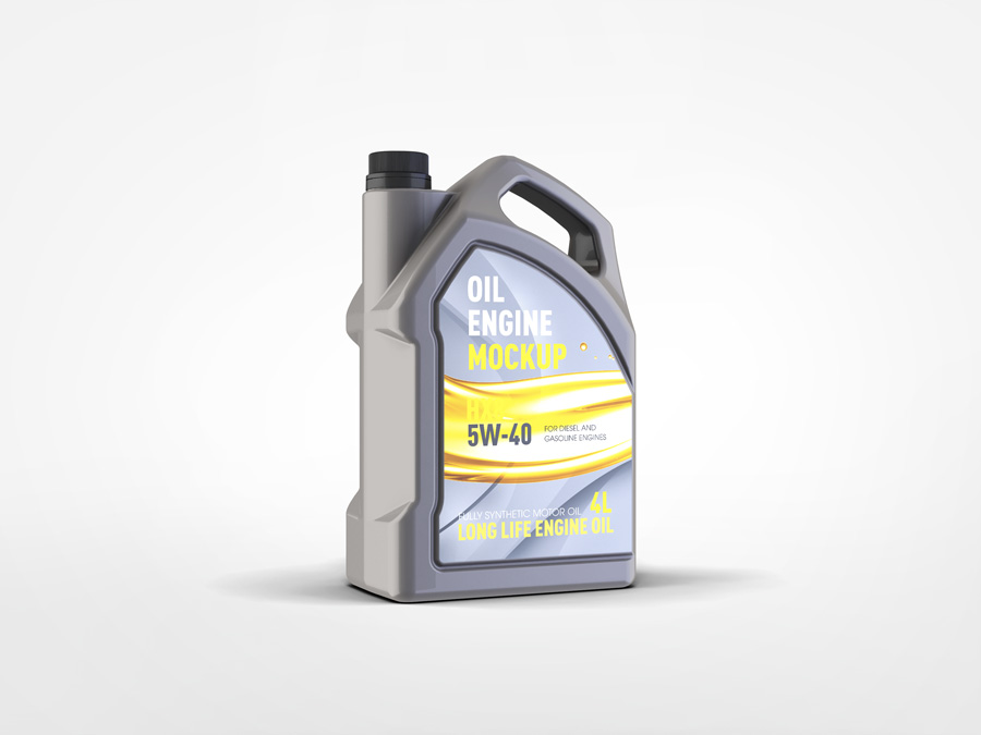 Motor oil gallon mockup for Gallon of motor oil
