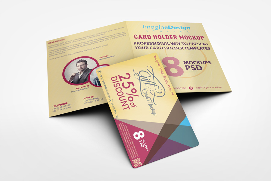 Card Holder Mockup