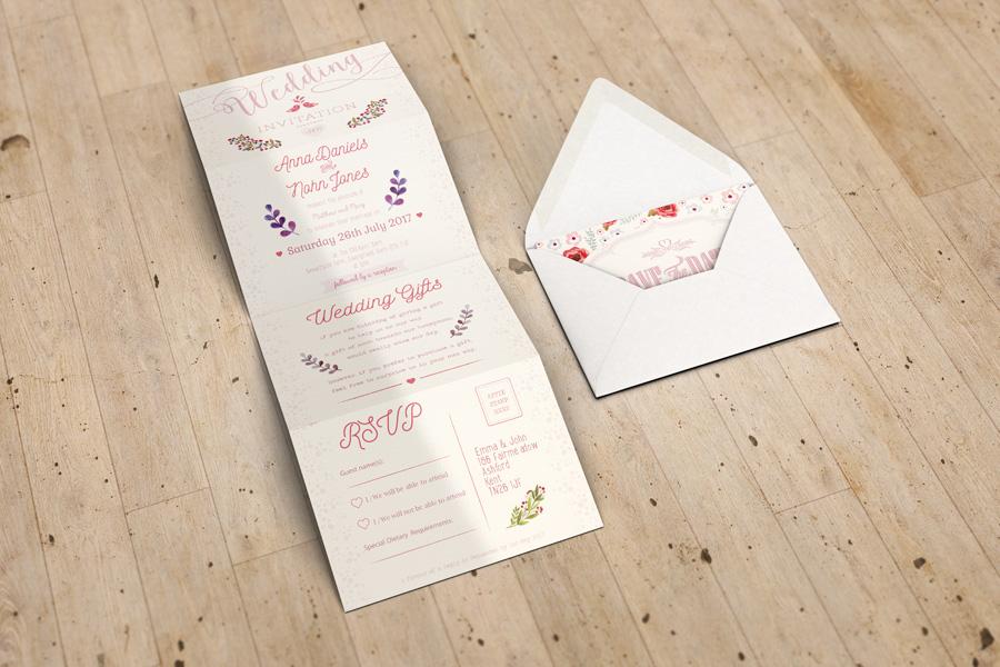 Excellent Accordion Wedding Invitation Mockup | www.idesignstudio.net RR73